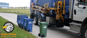 truck with waste bin